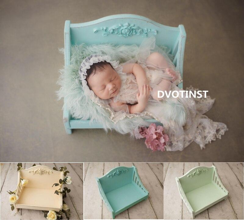 Dvotinst nouveau-né photographie accessoires bébé posant panier mignon Mini berceaux en bois lit Fotografia Accessorio Studio Shoot Photo accessoires
