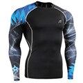 Impressões 3D Meias De Compressão Homens Fitness & Exercise Musculação MMA T-shirt do Desgaste da Aptidão Roupas
