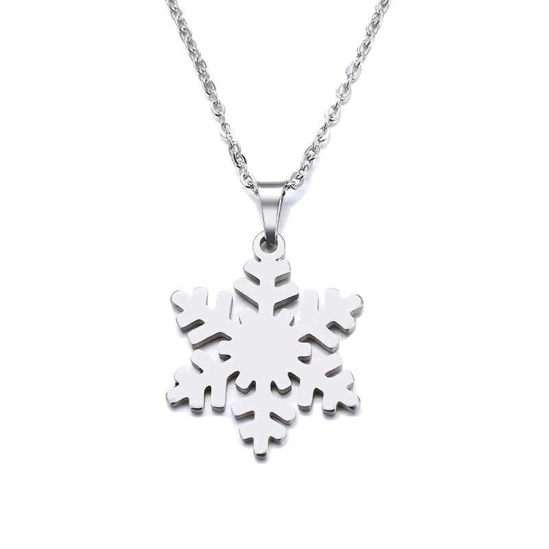 DOTIFI naszyjnik ze stali nierdzewnej dla kobiet Man Lover's Snow złoty i srebrny kolorowy wisiorek naszyjnik biżuteria zaręczynowa
