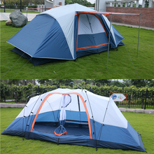 Automatic 5-8 person multiplayer 410*210*155cm double layer outdoor camping family 2rooms large space waterproof tent