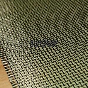 Image 5 - 185gsm Carbon Aramid Fiber Hybrid Fabric Plain woven  I shaped Square Fabric Yellow
