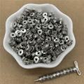 Бусины-разделители для ювелирных изделий, аксессуары для ожерелий, браслетов, 30 шт., 6 х6 мм