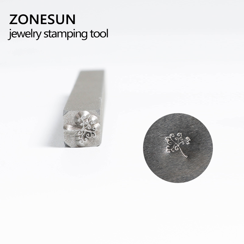 ZONESUN Customize Jewelry Buckle Mark Stamp Tool Gold Sterling Silver Ring Bracelet Earring Metal Steel Punch Mold 1pcs women men safety survival ring tool edc self defence stainless steel ring finger defense ring tool silver gold black color