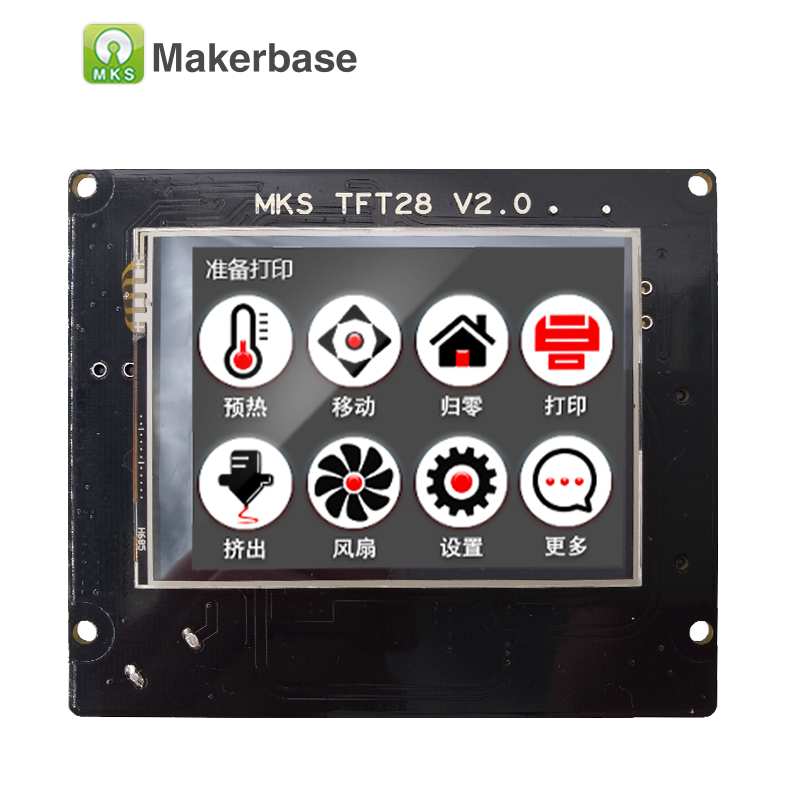 3d printing touch screen RepRap controller panel MKS TFT28 V2.0 display color TFT support/WIFI/APP/outage saving local language 3d printer 2 8 inch color touch screen support u disk mks tft28 v1 2