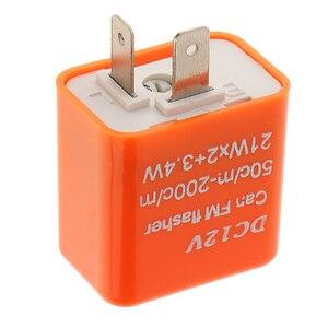 Image 3 - 1 Pcs 12V 2 핀 조정 가능한 주파수 LED 성 노출증 릴레이 차례 신호 깜박이 표시기 대부분의 오토바이 오토바이 액세서리