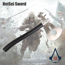 Cosplay Assassin's Creed III Game Connor Indian Axe Carbon Steel Real Weapon