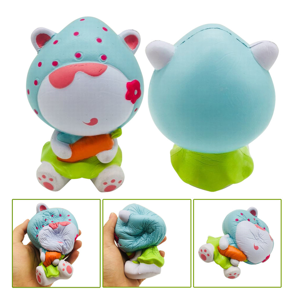 HIINST 1PC Squishy Strawberry Girl Scented Charm Slow Rising Squeeze Stress Reliever Toy Animal Squeeze Bread Cake Scented Toys