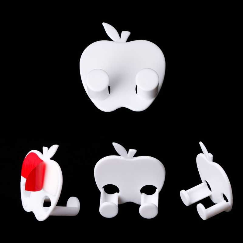 В форме яблока Разъем питания Разъем провода Джек крюк держатель Вешалка для сумок домашний Настенный декор