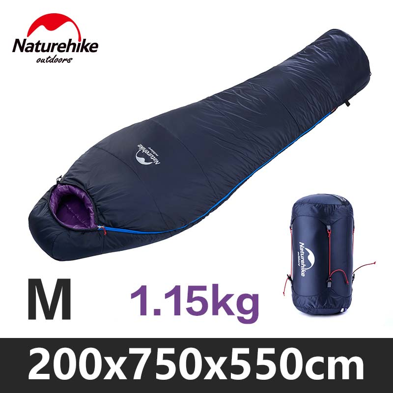 NatureHike Ultralight Sleeping Bag Winter Primaloft Cotton Filler Light Mummy Compression Outdoor Camping Hiking Bags mund 342 malla winter compression 12 l