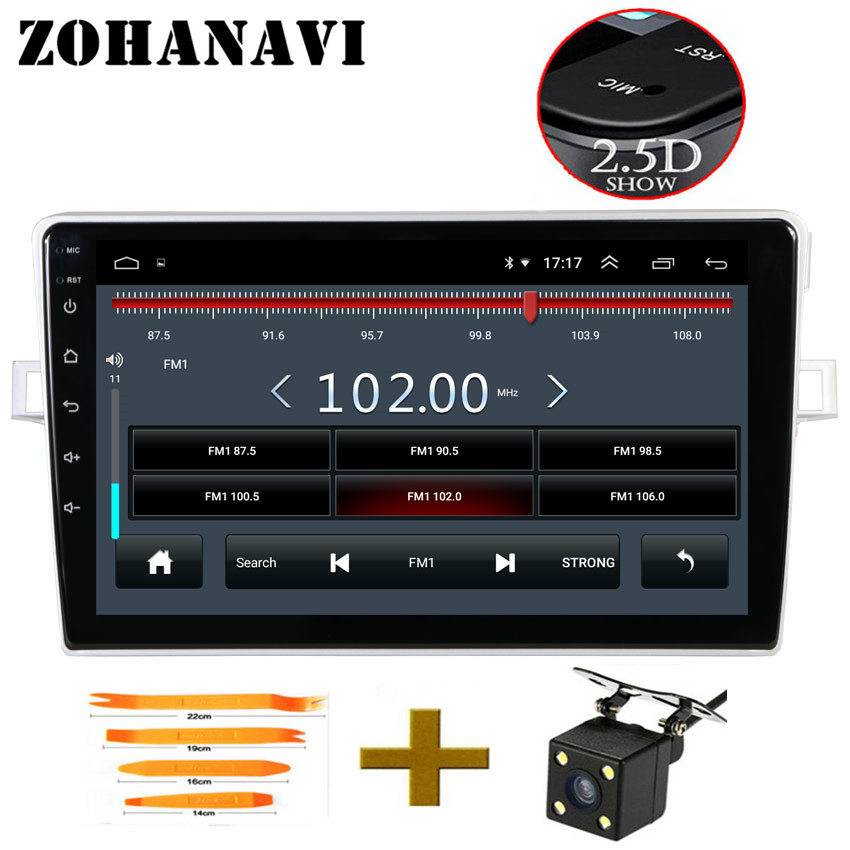 ZOHANAVI 9inch Android 8 1 car Multimedia Player For Toyota Verso EZ 2007 2016 Car Radio