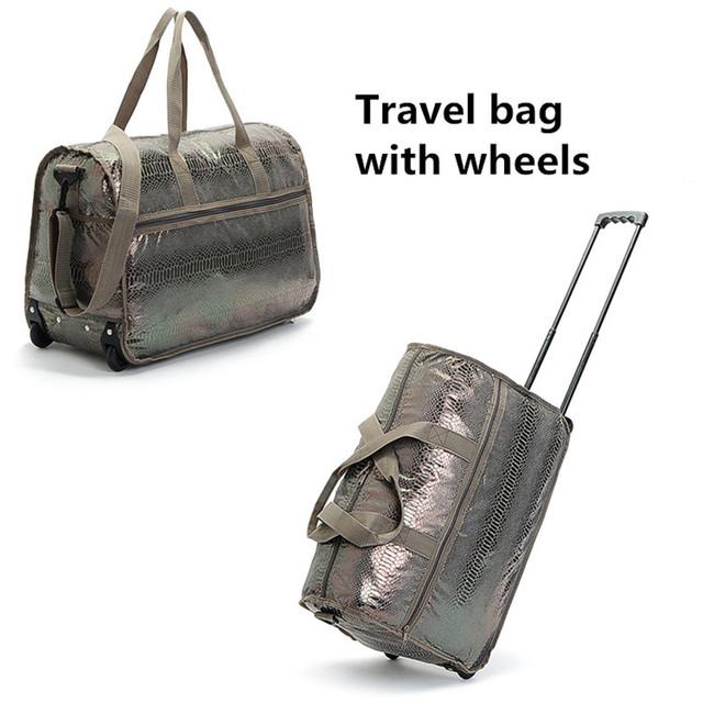Bolsa de lona de las mujeres de Alta hombres de la capacidad bolsas de viaje portátil reisetasche señora bolsa de viaje bolsa de las mujeres bolsa de viaje con ruedas para costu