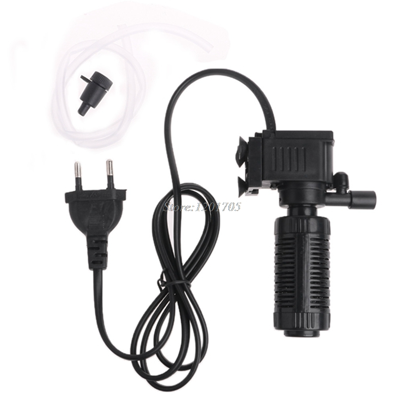 (szrandy)Mini 3 in 1 Aquarium Internal Filter Fish Tank Submersible Pump Spray EU APR21_ ...