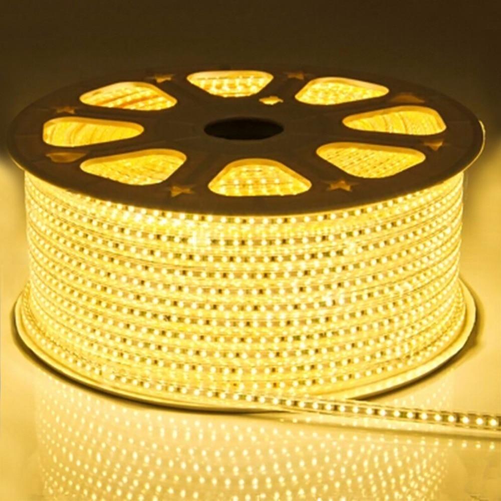LAIMAIK AC220V LED Strip Light Waterproof IP67 LED Light Strip 60leds/m 5050SMD LED Tape With Power Plug LED Lights for Home