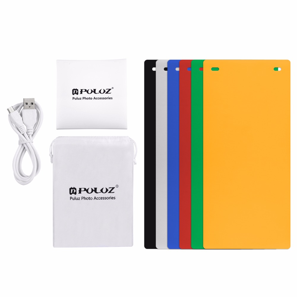 Image 5 - Dual LED Panels Folding Portable Photo Video Box Lighting Studio Shooting Tent Box Kit Emart Diffuse Studio Softbox lightboxPhoto Studio Accessories   -