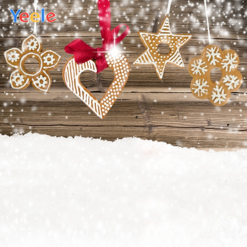 Yeele Christmas Photocall Decors Wood Snow Lights Photography Backdrops Personalized Photographic Backgrounds For Photo Studio