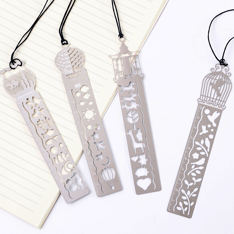 4 Pcs/lot Creative Metal Ruler Kawaii Horse Birdcage Hollow Rulers For Kids Student Gift School Supplies Stationery