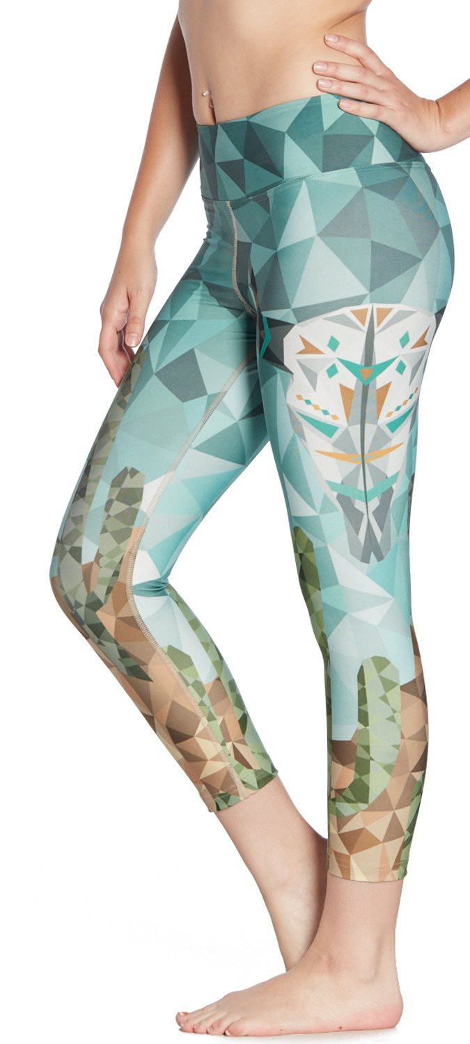 8610e8f4a0 2017 New Women Cactus in Desert Print Fitness Quick Dry Workout Leggings  Knee Length Aerobic Exercise Pants-in Leggings from Women's Clothing &  Accessories ...