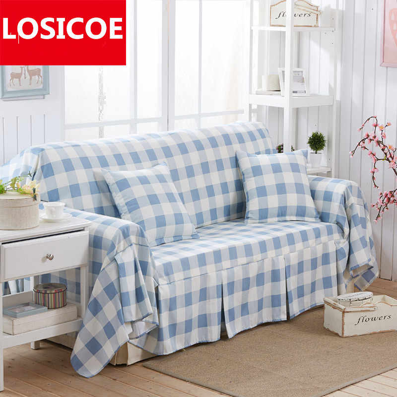 Pleasing High End Luxury Pastoral Style Sofa Cover All Inclusive Sofa Towel Cloth Slipcover Carpet Big Blue Plaid Sofa Sets Pillow Gamerscity Chair Design For Home Gamerscityorg