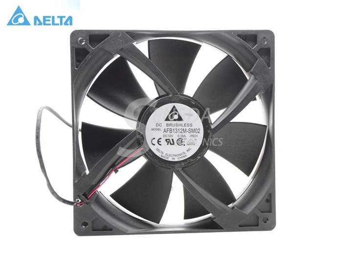 Delta 13525 AFB1312M 13.5cm 135mm DC 12V 0.38A 2Wie Case Fan,Cooling Fan delta 12038 12v cooling fan afb1212ehe afb1212he afb1212hhe afb1212le afb1212she afb1212vhe afb1212me