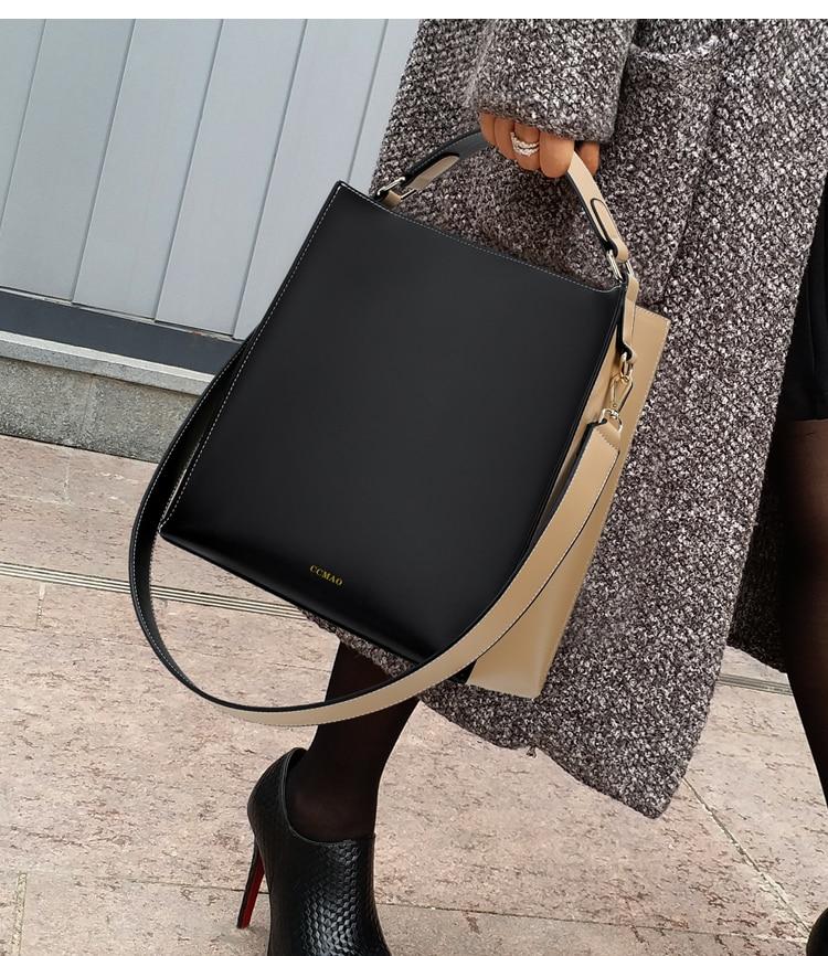 Nova moda feminina bolsa de couro do
