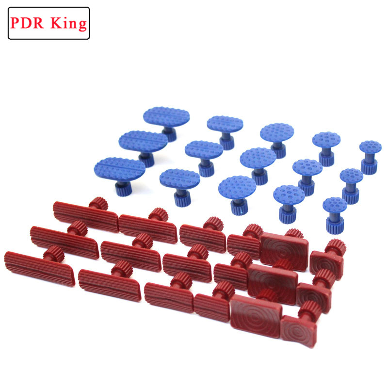33Pcs Glue Pulling Tabs PDR Glue Tabs Auto Body Dent Repair Tool Pulling Tabs Car Dent Removal Body Repair Kit dent pulling bits straight