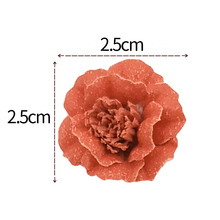 20pcs/lot 2.5cm 3Colors Fabric Flower DIY Handmade Ornament For Baby Headband Accessories MOMLOVEDIY