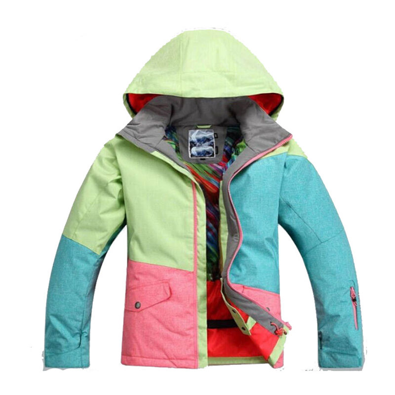 High Quality Gsou Snow Women Ski Suit Sets 10K Waterproof windproof Thick Winter Warm Clothes Snowboarding Costume snow Jacket free shipping the new 2017 gsou snow ski suit man windproof and waterproof breathable double plate warm winter ski clothes