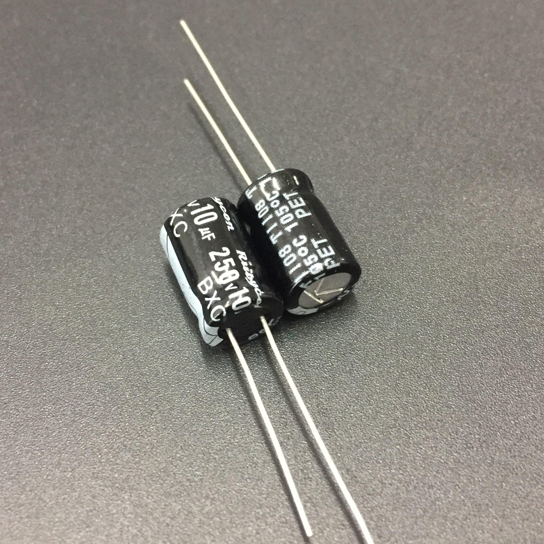 ELECYINGFO 10pcs 10uF 250V RUBYCON BXC 8x12mm High Ripple Current Long Life 250V10uF Aluminum Electrolytic Capacitors