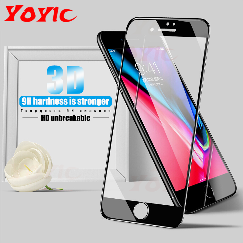 3D Full Cover Soft Edge Carbon Fiber Tempered Glass For iPhone 7 8 6 6s Plus Screen Protector For iPhone X 8 7 Plus Glass Film
