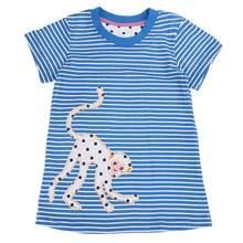 567836026 Verão Crianças Vestidos Para Meninas Do Bebê Crianças Meninas Listrado Azul  Macaco Manga Curta Verão Vestido de Algodão Casual c.