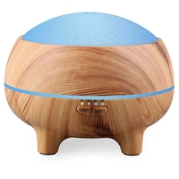 300Ml Aroma Essential Oil Diffuser Bluetooth Music Speaker Ultrasonic Air Humidifier With 15 Color Led Lights Us Plug