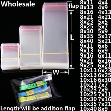 Transparent Self-Adhesive Small Plastic Bag Gift Jewelry Packaging Bags Candy Cookies Packing Poly OPP Clear Baggie