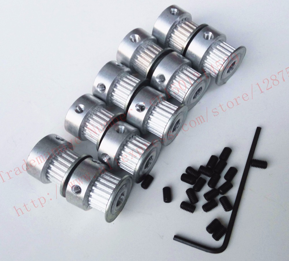 10 pieces/pack GT2 Teeth 20 width 6mm Aluminium Timing Belt Pulley bore 5mm 20-GT2-6 2GT bore 5 mm Wholesale high quality 3D CNC powge 8pcs 20 teeth gt2 timing pulley bore 5mm 6mm 6 35mm 8mm 5meters width 6mm gt2 synchronous 2gt belt 2gt 20teeth 20t