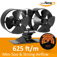 Stove Thermometer 8 Blade Twin Motor Strong Airflow Heat Powered Eco Stove Fan 33 Fuel Cost