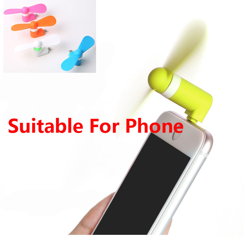 Portable 2in1 Téléphone Portable Mini Micro USB Fan coolingcooler pour iphone android NEUF