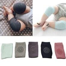 1 пара детских наколенников, Защитные Налокотники для ползания, подушка для младенцев, черная Детская грелка для ног, защита для колена