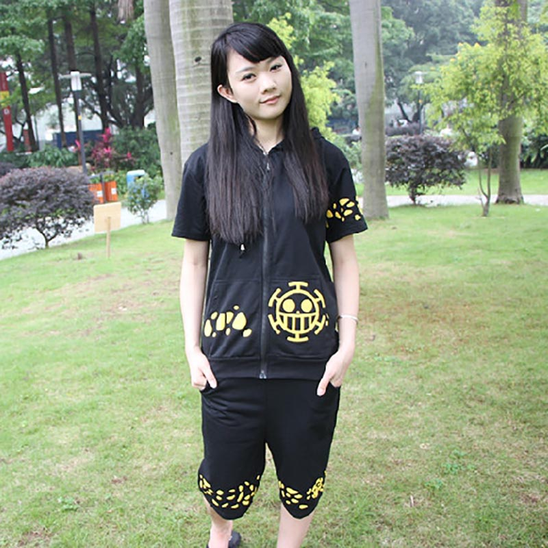 One Piece Law Coat + Shorts / Pants men women casual Hoodie & short trousers suit tracksuit anime cosplay costume