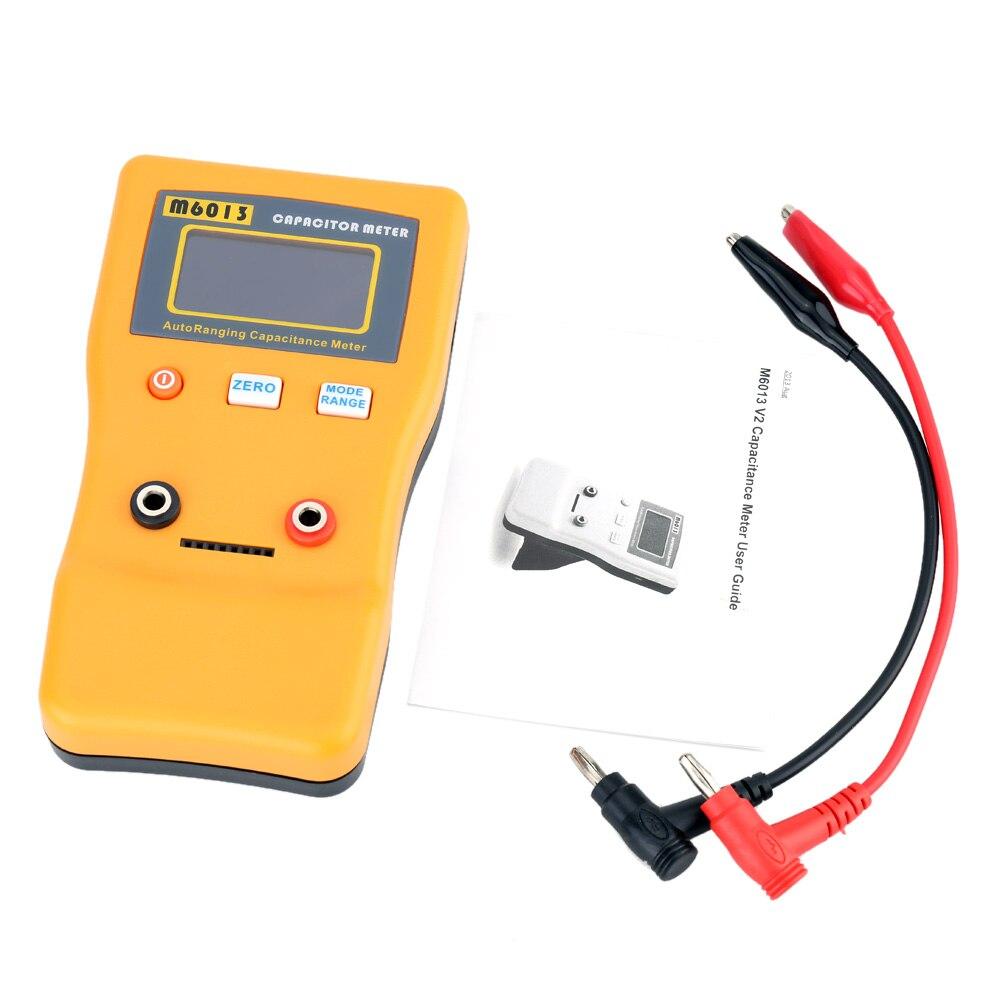 LCD haute précision condensateur mètre M6013 professionnel mesure capacité haute résolution résistance condensateur testeur