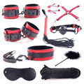 Event BDSM Sex Toys Ball Gag Whip Blindfold handcuff  PU Leather collar lash nipple cover Sex Bondage sex Party Supplies