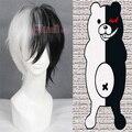Бесплатная Доставка 30 СМ Короткие Синтетические Черный Белый Аниме Dangan Ronpa Monokuma Косплей Парик