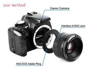 Image 2 - 10pcs Aluminum M42 Screw Mount Lens Adapter for M42 EOS EF Mount Ring Rebel For Can&n XSi T1i T2i 1D 550D 500D 60D 50D 7D 1000D