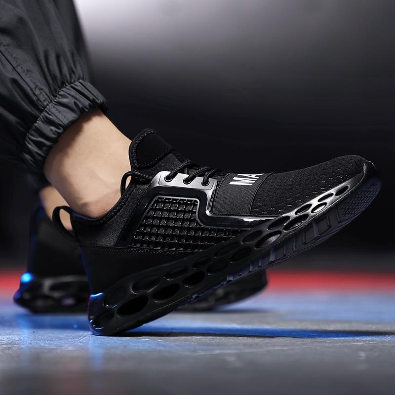 Tenis 46 Taille Ayakkabi red Amortissement Chaussures Marque Chaude Sneakers Vente 2018 Casual Blue Qualité Mans Bomkinta Hommes dark Plus Black Haute RtaqwxPI