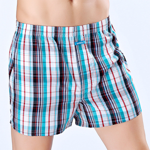Image 3 - High Quality ! ekMlin Brand 4 Pack Mens  Boxer Shorts Woven Cotton 100%  Plaid 50s Combed yarn male Underpant  Loose Breathable