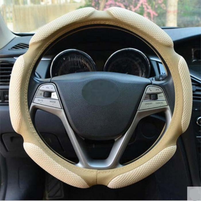 38cm Universal Car Steering Wheel Cover antislip patchwork design fashion Wh ...