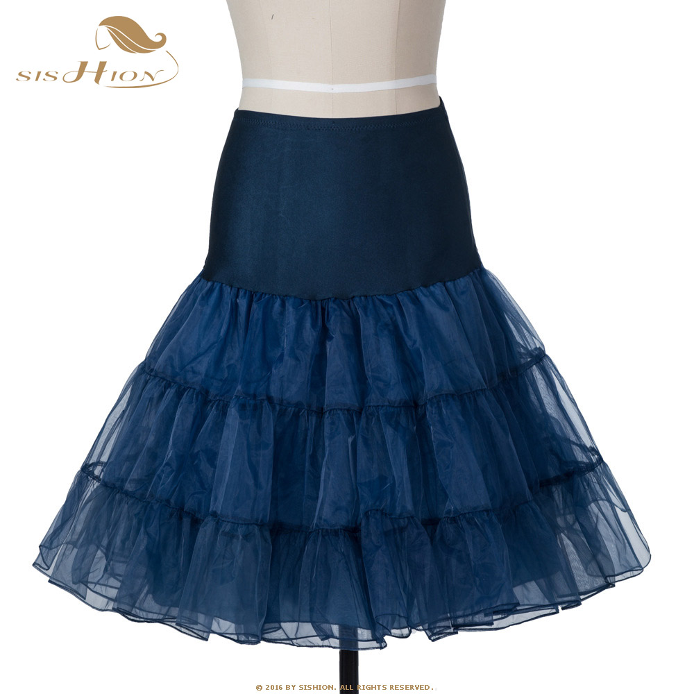 Sishion Retro Store SISHION Tutu Skirt Swing Rockabilly Petticoat Underskirt Crinoline Fluffy Pettiskirt for Wedding Retro Vintage Tulle Skirt 134