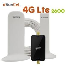Shunhans 4g LTE משחזר LTE 2600 להקת 7 טלפון נייד אות מאיץ LTE נייד סלולארי מגבר אנטנת סט AGC 4G בוסטרים