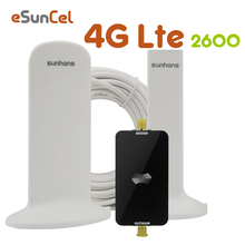 Shunhans 4g LTE Repeater LTE 2600 Band 7 Mobile Phone Signal Booster LTE Cellphone Cellular Amplifier Antenna Set AGC 4G Booster