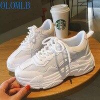 Обновленные кроссовки; женские кроссовки из сетчатого материала; белые кроссовки на платформе; женская повседневная обувь; обувь на танкет...