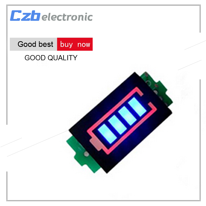 US $1 25 |3S 3 Series Lithium Battery Capacity Indicator Module 12 6V Blue  Display Electric Vehicle Battery Power Tester Li po Li ion-in Home