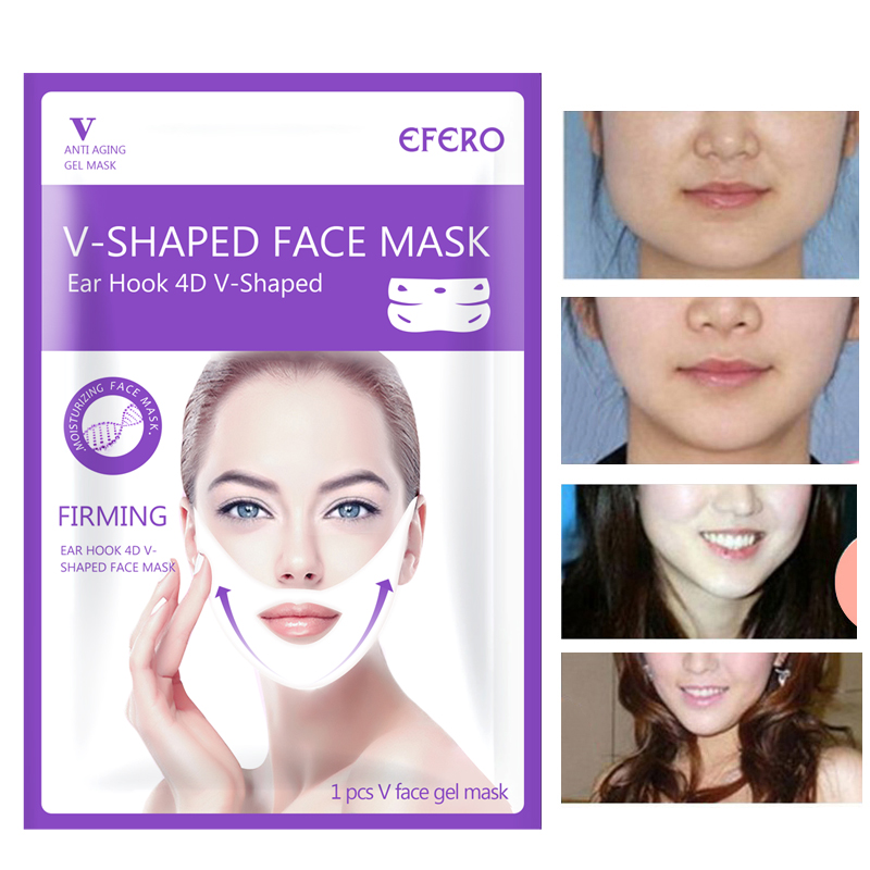 Image 4 - Women Lift Up V Face Chin Masks Lifting Firming Slimming Cheek Smooth Wrinkles Cream Face Neck Peel off Masks Bandage Face Mask-in Face Skin Care Tools from Beauty & Health